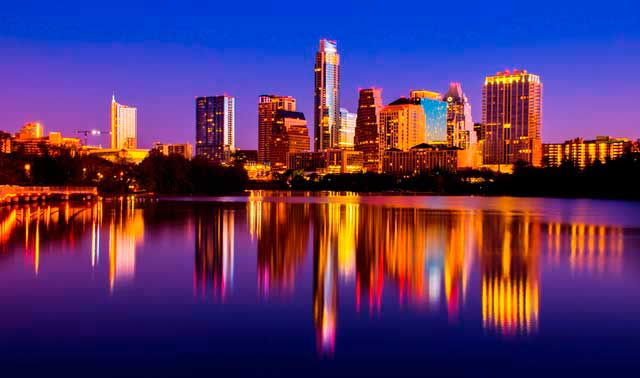 Austin airport (AUS) serves the greater metropolitan area of Austin and it's the 34th largest metropolitan area in all USA.