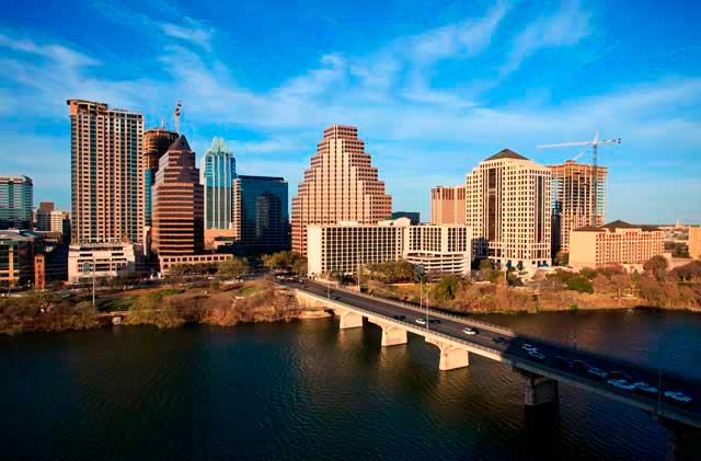 Austin airport is located about 5 miles from the Austin Downtown, in Texas, USA.
